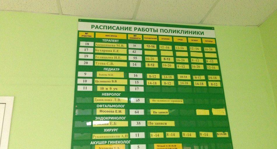 наб.челны поликлинике работы врачей график в 7