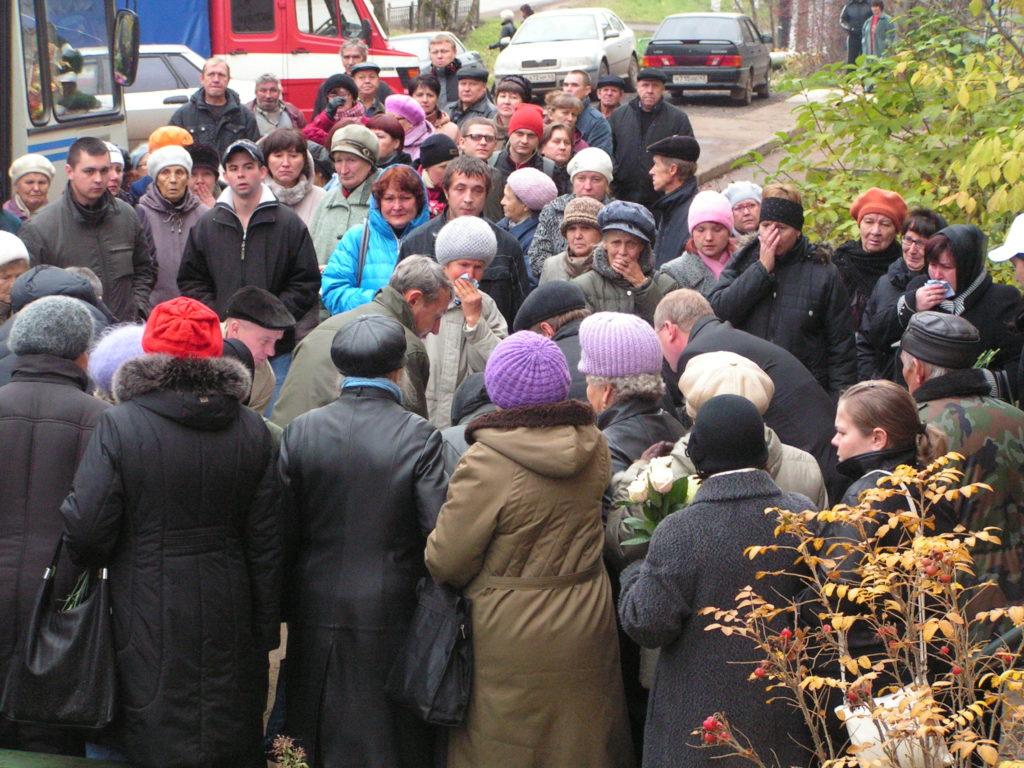 похороны Михаила Лущикова
