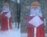 В Нововятске слепили гигантского Деда Мороза