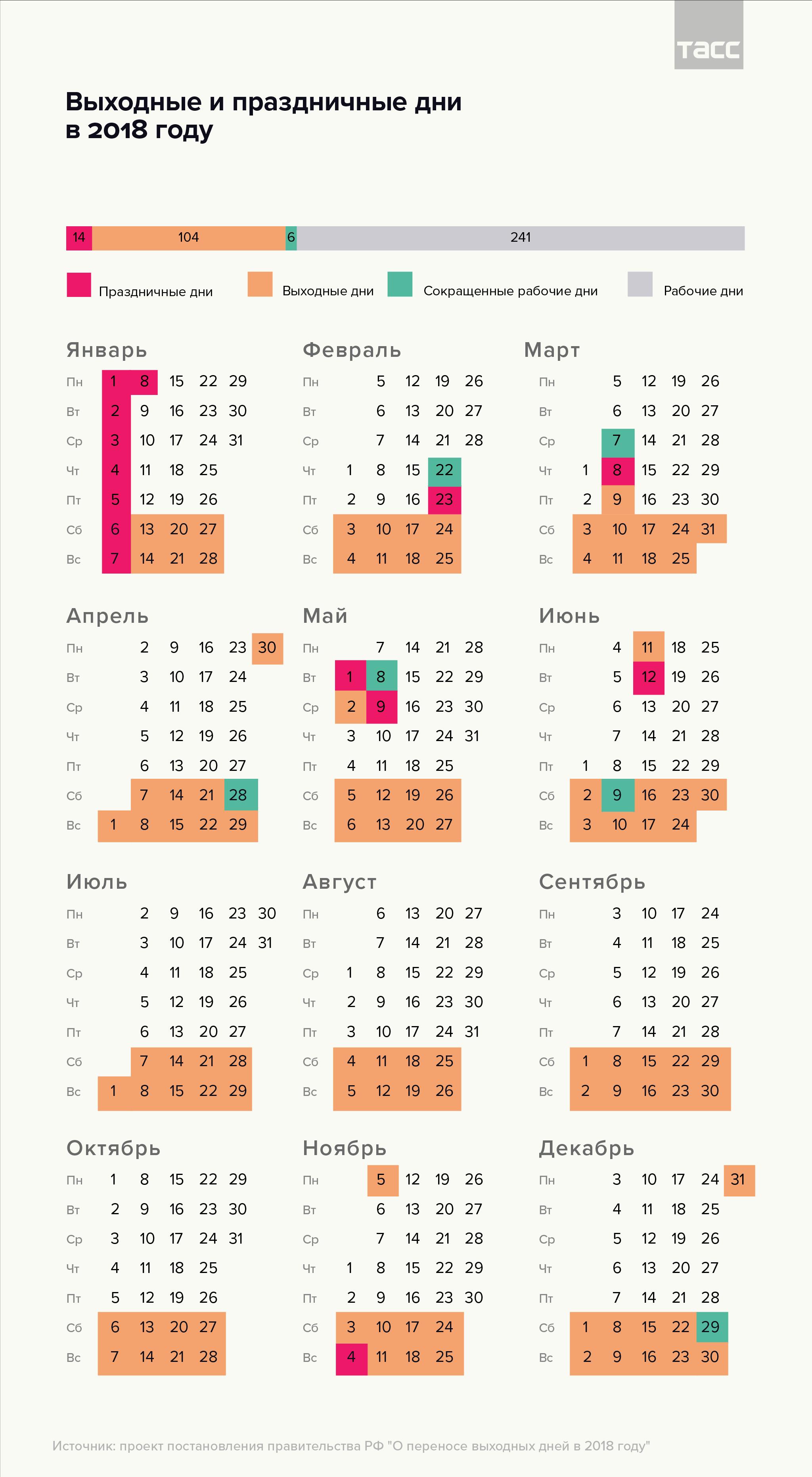 Выходные дни в Беларуси в 2018 году